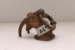 Indian Brass small cute dear Figurine wall hook Rich Patina Late period NH610