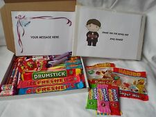 45 PIECE RETRO SWEETS GIFT BOX RING BEARER FREE PERSONALISED MESSAGE