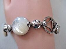 SILBER DESIGN ARMBAND ° PERLMUTT ° 925 / 1000° Silberschmuck° silver bracelet °