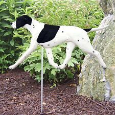 English Pointer Outdoor Garden Sign Hand Painted Figure Black/White