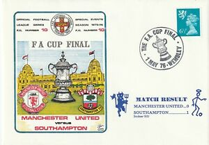 1 MAY 1976 MANCHESTER UNITED v SOUTHAMPTON FA CUP FINAL DAWN FOOTBALL COVER