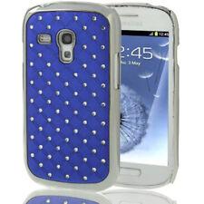 Hardcase Bling für Samsung i8190 Galaxy S3 Mini in blau Hülle Case Backcover