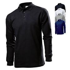 Stedman Herren Poloshirt Polohemd LONG SLEEVE POLO Langarm Neu ST3400