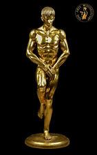 Bronze Sculpture Figurine Adonis Erotic Handmade Sexual Men Art Deko