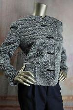 $2995 New GIORGIO ARMANI Black Ivory Gray Gold Tweed Boucle Jacket 48 14