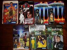 Mixed Lot Of Funko ReAction Action Figures Alien Breaking Bad Disney Big trouble