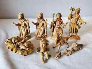 Vintage 10 piece Lot 1983 1989 Fontanini depose Italy Nativity figures Fast Ship