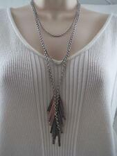Lucky Brand triple strand~charm drop necklace, NWT
