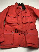 Vintage Belstaff Trialmaster XL500 Motorcycle Jacket Made in England Red Men's L