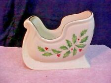Lenox - Holiday - Sleigh - Accent / Potpourri / Nuts / Candy Dish New Made in Us