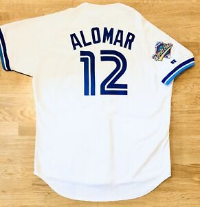 NEW Sz 48 Authentic Russell Athletic Roberto Alomar 92 WS Retro Blue Jays Jersey