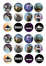 24 Fortnite Wafer / Rice Paper Cupcake Topper Edible Fairy Cake Bun