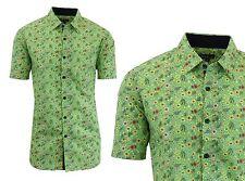 Mens Short Sleeve Slim-Fit Button-Down Casual Summer Shirt Size S M L XL XXL NWT