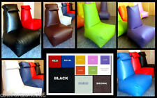 Leather Solid Pattern Chair Bean Bag & Inflatable Furniture