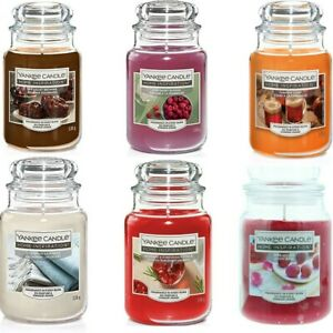 Yankee Candle Scented Fragrance Candles Large Home Glass Jar 538g Xmas Gift NEW