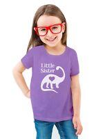 Little Sister Gift Siblings Love Dinosaur Toddler/Kids Girls' Fitted T-Shirt