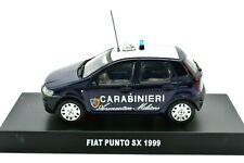 MODELLINO AUTO FIAT PUNTO CARABINIERI AERONAUTICA MILITARE SCALA 1/43 MODELLISMO