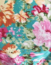 Dressmaking Fabric  Watercolour Artistic Floral/Flower Comfort Stretch Cotton
