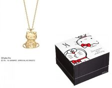 SANRIO Hello Kitty x Doraemon Yellow Gold Necklace GS8N018060SI Made in Japan