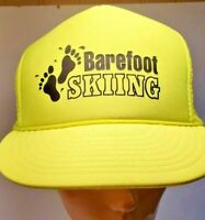 Barefoot  Skiing Adjustable Adult Baseball Ball Cap Hat  Yellow Snapback