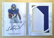 2016 STERLING SHEPHARD RC #75/99 Auto JSY 2CLR Playbook Booklet Hand Signed RPA