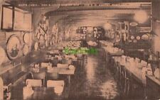 Postcard Ship's Cabin Dan & Louis Oyster Bar Portland Oregon OR