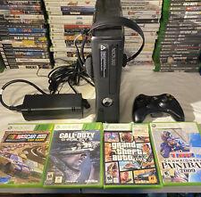 Microsoft Xbox 360 Slim 4GB Console - Black No Hard Drive And 4 Games/control