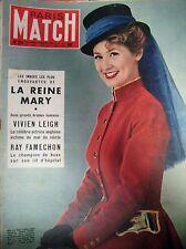 PARIS MATCH N° 0211 REINE MARY VIVIEN LEIGH PICASSO COLETTE DEREAL 1953