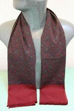 Silk Style Vintage Scarf red navy paisley retro mens womens cravat *183