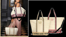 NEW! Victoria's Secret Sparkle Carryall 2018 and Weekender Set 2 Canvas Totes