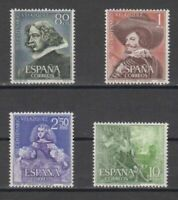 SPAIN (1961) - MNH COMPLETE SET - SC SCOTT 983/86 VELAZQUEZ PAINTINGS
