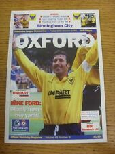 18/10/1996 Oxford United v Birmingham City  . Thanks for viewing this item, buy