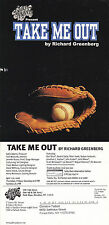 TAKE ME OUT A PLAY BY RICHARD GREENBERG ADVERTISING COLOUR POSTCARD
