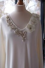 Stunning Ladies Cream 'Arruba'  Top Size XL BNWT ORIGINALLY £129 (DD7)