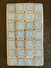 Alphabet Set Wooden Rubber Stamps. Inverted letter design. U-Create