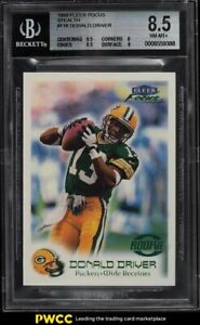 1999 Fleer Focus Stealth Donald Driver ROOKIE RC /300 #118 BGS 8.5 NM-MT+