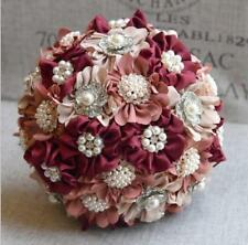 Luxury Crystals Satin Brooch Wedding Bridal Bouquet Bride/Bridesmaid Hand Flower