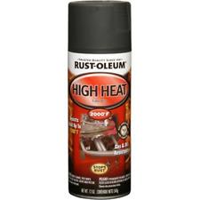 Automotive Spray Paint High Heat 2000 Degree 12-Ounce Rust-Oleum Auto Flat Black