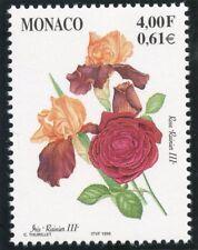 TIMBRE DE MONACO N° 2217 ** FLORE /  FLEUR / ROSES ET IRIS