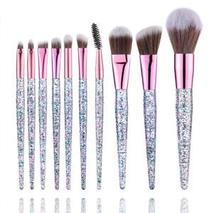 10pcs Eyeshadow Brush Set Blend Eyeshadow Eyeliner Consealer Lip Brush Makeup