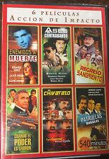 6 Peliculas, DVD, Accion De Impacto, El Chivatazo, Enemigos a Muerte, + More New