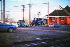 Original Slide Mp 3021 Sd40 MoPac Missouri Pacific Depot/Station Watseka Il 1975