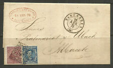 SPAIN. 1878. FOLDED ENVELOPE. SANTANDER TO ALBACETE.