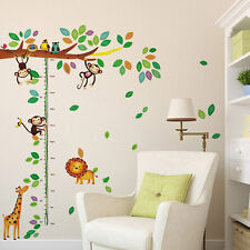 Height Growth Chart Wall Sticker Owls Giraffe Monkey Decal for Kid Room Nursery