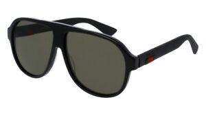 NEW Gucci Urban GG 0009S Sunglasses 001 Black 100% AUTHENTIC