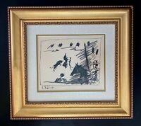 """Pablo Picasso """" Toreros III """"  Original Lithograph by Mourlot 1961 + Framed"""