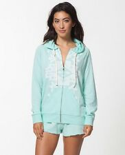 NEW RIP CURL EMPIRE ZIP UP SWEATER HOODY AQUA SMALL QQ80 RP$59.50