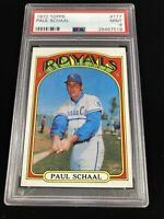 1972 Topps #177 Paul Schaal Kansas City Royals PSA 9 MINT