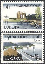 Belgium 1977 Europa/Water/Dam/Reservoir/River/Environment 2v set (n32567)