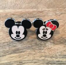 2 Disney Pins-Tiny Cuties Mickey And Minnie-Set Of 2 Pins-Authentic-New